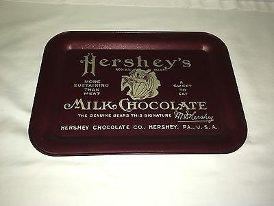 HERSHEY'S TIN TRAY in Great Condition!  Undated--owner since the early 1980s