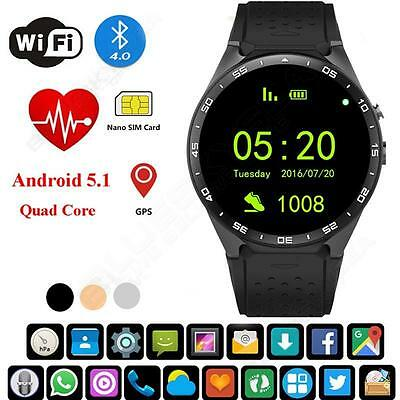 Wifi GPS Bluetooth Wrist Smart Watch Phone Mate For iPhone Android IOS Samsung