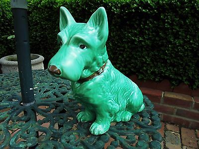Art Deco Sylvac Mac Terrier Dog Green 1209 The Largest Size