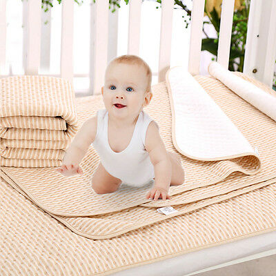 Baby Infant Diaper Urine Mats Reusable Organic Cotton Changing Cover Pads New
