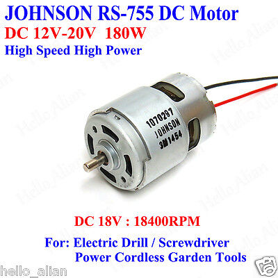 JOHNSON RS-755 DC Motor  DC12V~20V High Speed High Power for Electric Drill Tool