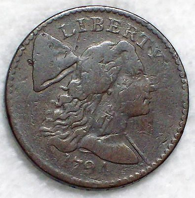 1794 Flowing Hair LARGE CENT Fine Detailing *RARE* Authentic S-55 Variety 1C .01