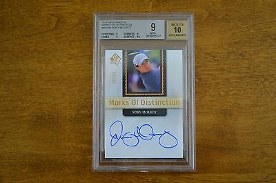 2014 SP Authentic Golf Marks Of Distinction Rory Mcilroy Auto 20/35 BGS 9