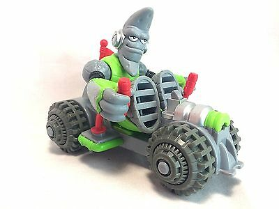 """Fisher Price Planet Heroes Green Grey Lunar Moon Rover 5"""" Figure + Vehicle Set"""