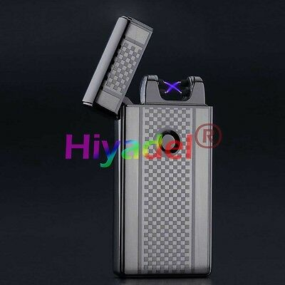 Dual Arc Electric USB Lighter Rechargeable Windproof Flameless Cigarette SHI