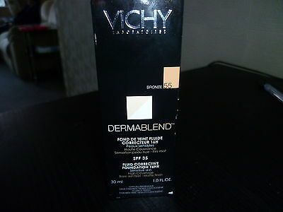 Vichy 30ml Dermablend Fluid Corrective Corrector SPF35 16Hr bronze 55 foundation