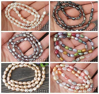 SP0141q Natural 5-6MM Baroque Freshwater pearl loose Beads 15''