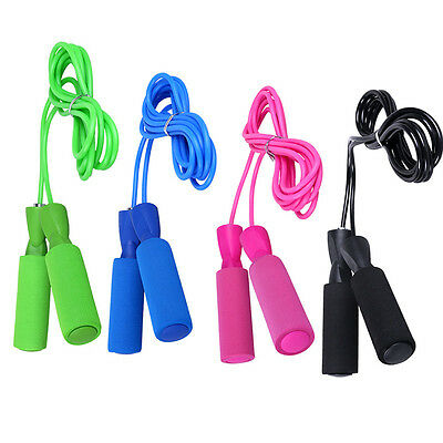 Adjustable  Aerobic Exercise Fitness BLK Boxing Skipping Jump Rope Bearing Speed
