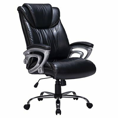 Heavy Duty High Back Bonded Leather Thick Padded Office Chair, Swivel Mechanism