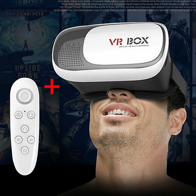 VR Box 2.0 Headset Virtual Reality 3D Glasses For iPhone 6s Samsung S7 + Remote