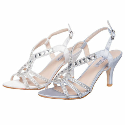 SheSole Womens Rhinestone High Heels Sandals Wedding Dress Shoes Size 6-11