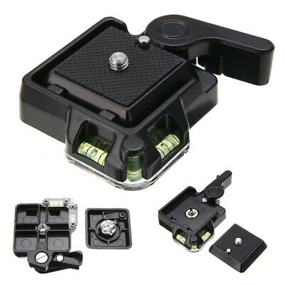 Clamp with Quick Release QR Plate Plate for Tripod Ball Head Adapter Arca-Swiss