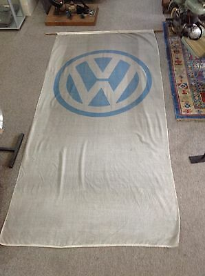 ORIGINAL 1950's/60's VW DEALERS FLAG HUGE *RARE