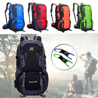 40L Outdoor Backpack Waterproof Rucksack Athletic Sport Hiking Travel School Bag