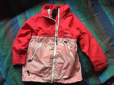 Didricksons Girls Storm System Jacket 110cm Age 4-5