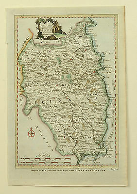 1784 Antique Map of the Province of Leinster in Ireland - Dublin Alexander Hogg