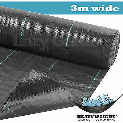 3m wide 100gsm weed control fabric garden landscape ground cover membrane mulch