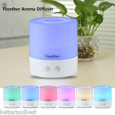 Portable USB LED Essential Oil Aroma Diffuser Ultrasonic Humidifier Air Purifier