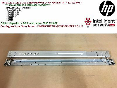 HP DL160 DL180 DL320 D2600 D2700 G5 G6 G7 Rack Rail Kit   * 573091-001 *