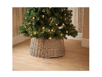 New Natural  Wood Wicker Christmas Tree Skirt