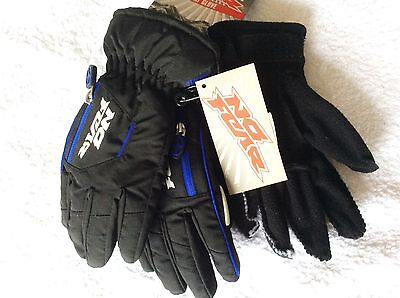 Hi Quality No Fear Boys Duo Black 2 Layer Waterproof Windproof Ski Gloves