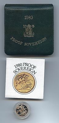1980  Q.e.ii Gold Proof Sovereign