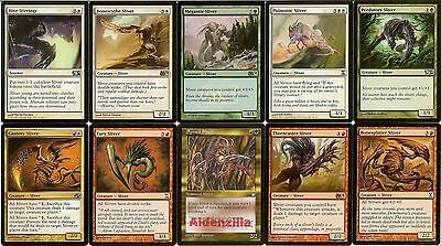 MTG Sliver (Red White Green) Deck - Pulmonic Megantic Bonescythe Magic Gathering