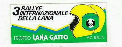 3° Rallye della Lana 1980 adesivo sticker autocollant rally ORIGINALE Cerrato