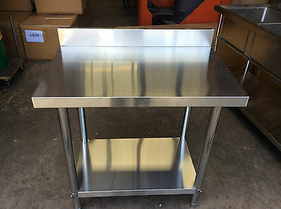 Brand New Commercial Stainless Steel Kitchen Bench with splash back