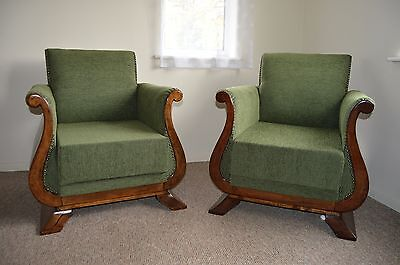 Magnificent Pair of French Art Deco Armchair