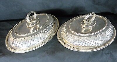 Silver plated pair of serving dishes Boardman Glossop & co Sheffield 1861-1927