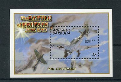 Antigua & Barbuda 2000 MNH WWII Battle of Britain 60th 1v S/S I Junkers Stamps