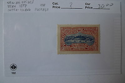 New Hebrides Year 1897 Inter Island Postage Mh