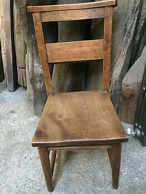 Original Vintage Chapel Chair Attractive Beech & Elm Wood Kitchen Dining Seat