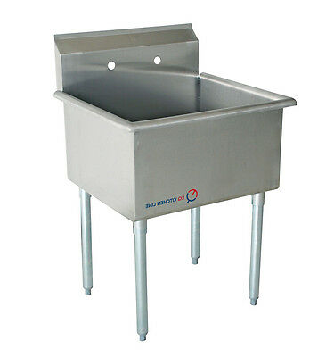 "EQ Compartment Sink Kitchen Commercial Stainless Steel Silver 27""X27.5""X43.75"""