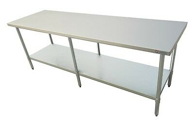 "EQ Stainless Steel Commercial Restaurant Flat Top Prep & Work Table 96""X30""X34"""
