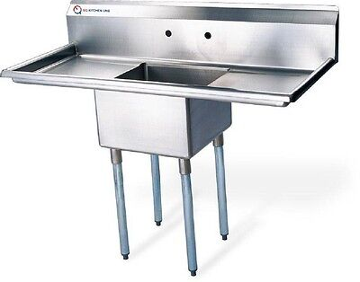 """New Compartment Sink Kitchen Commercial Stainless Steel Silver 38""""X21.5""""X43.75"""""""