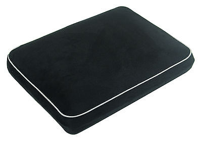 Soft Velour Memory Foam Contour Car, Plane, Home Travel Pillow / Cushion - Black