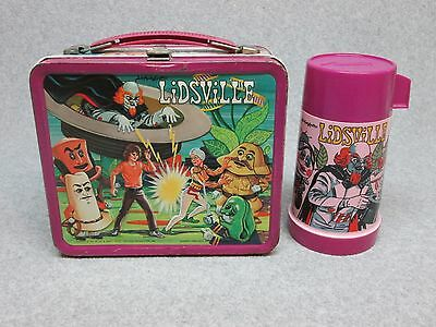 1971 LIDSVILLE LUNCHBOX & THERMOS Sid & Marty Krofft Enchanted HATS C#8