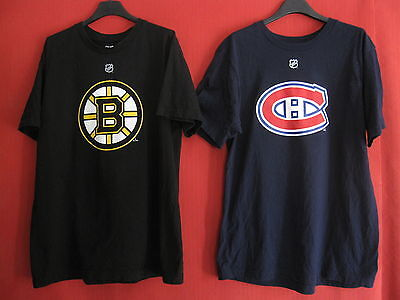 Lot 2 Tee Shirt Boston Bruins Seguin + Montreal Canadiens Gallagher Vintage - L
