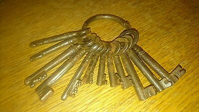 Job Lot of Antique / Vintage Collectible  Keys on Keyring