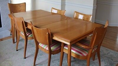 Heywood Wakefield Dining set -Extension table and 6 chairs