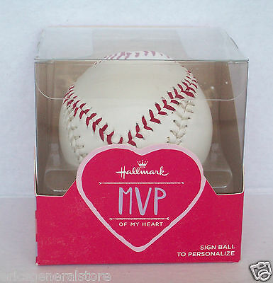 Hallmark MVP of My Heart Simulated Leather Autographable Stitched Baseball