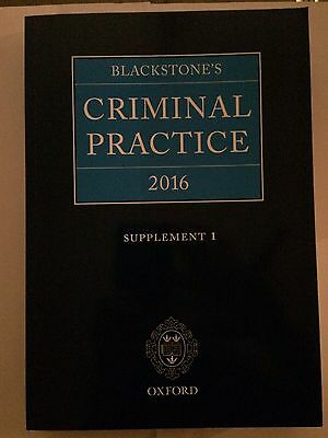 Blackstone's Criminal Practice 2016: Rules and Guidelines by Oxford...