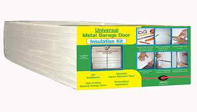 Garage Door Insulation Kit Weather Seal Barrier Foam Boards Panel Energy Save