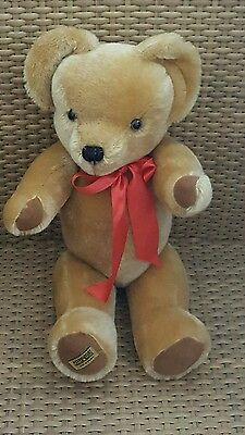 "Merrythought Teddy Bear London Gold 16"" Mohair Made in Britain With Tags"