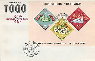Fdc Expo 67 Montreal Extra Large Togo - Rare