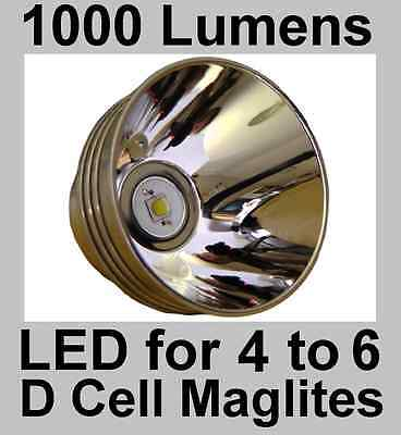 Maglite LED Upgrade 3 4 5 6 D Cell Torch. Brightest 3 Modes 1000 Lumen 10W Bulb