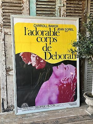 Fabulous vintage French Framed Film / Cinema Poster