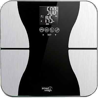 Smart Weigh Body Fat Digital Precision Scale with Tempered Glass Platform, Eight